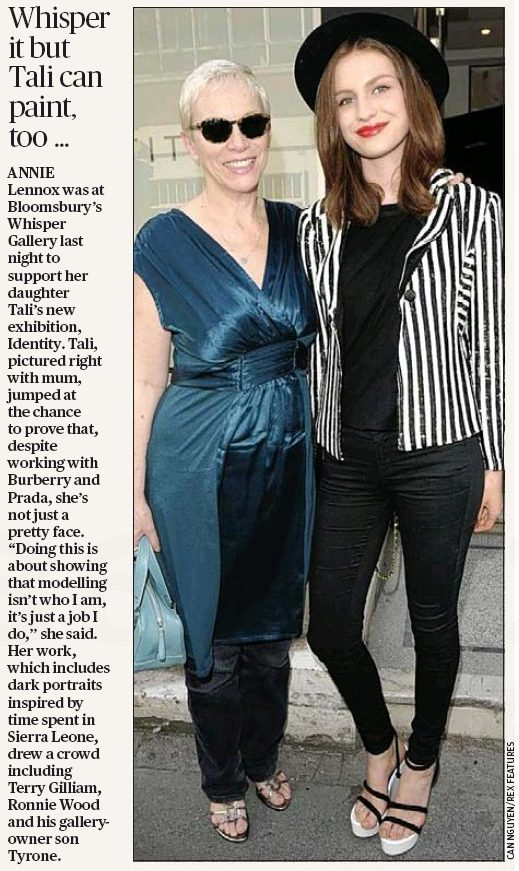 Annie Lennox Attends The Opening Of Tali's Art Exhibition