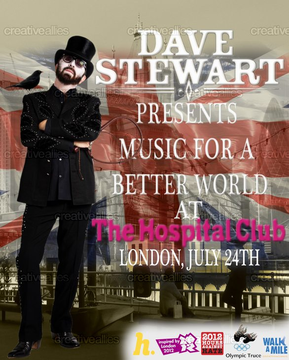 Dave Stewart To Perform And Stream An All Start Concert From The Hospital Club With Moby, KT Tunstall & Surprises!