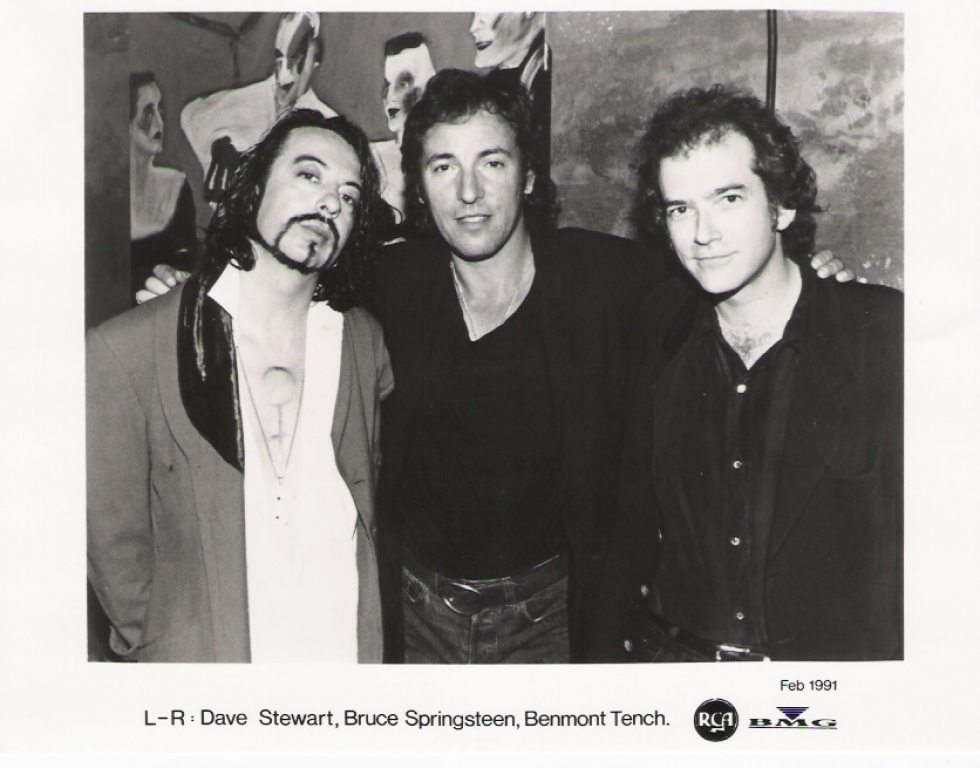Photo Of The Week: Dave Stewart, Bruce Springsteen & Benmont Tench