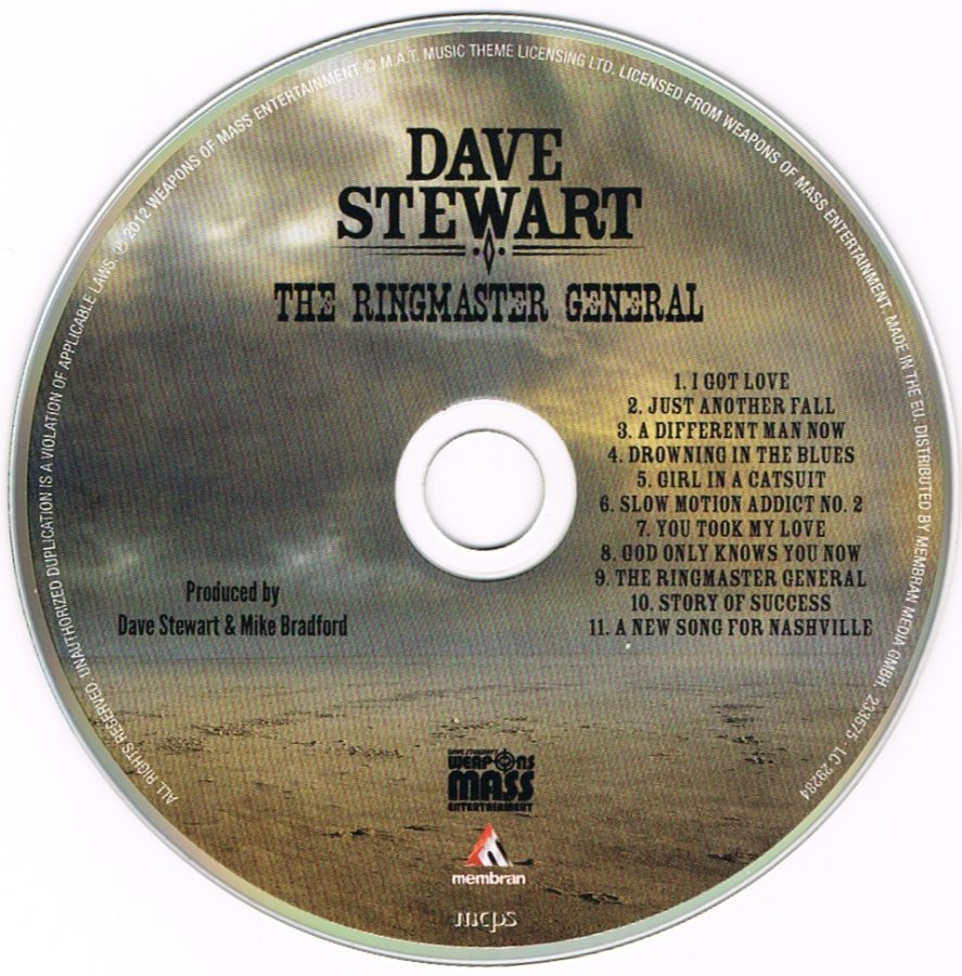 Record Of The Week: Dave Stewart's Ringmaster General UK Picture Disc CD