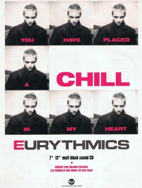 Eurythmics: Savage25: UK Advert For You Have Placed A Chill In My Heart