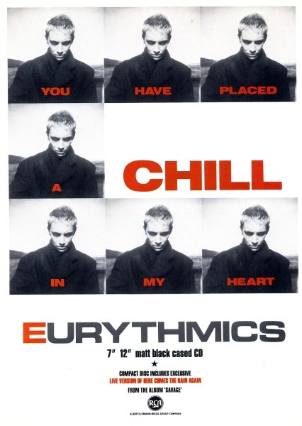 Eurythmics: Savage25: Final UK Advert For You Have Placed A Chill In My Heart