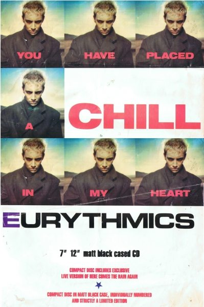 Eurythmics: Savage25: UK Colour Advert For You Have Placed A Chill In My Heart