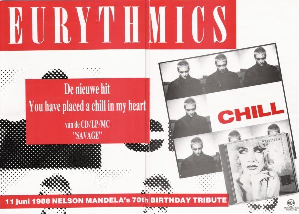 Eurythmics: Savage25: Dutch Advert For You Have Placed A Chill In My Heart