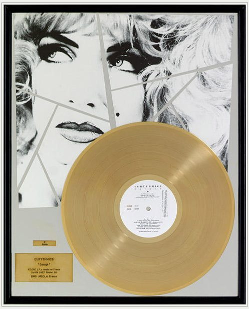 Eurythmics: Savage25: Memorabilia – Sales Awards For Savage