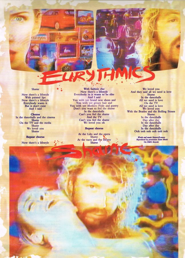Eurythmics: Savage25: Memorabilia – Magazine Song Lyrics Part 2