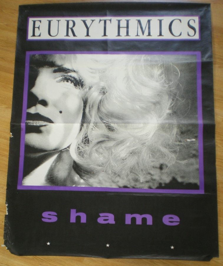 Eurythmics: Savage25: Memorabilia – Rare Subway Sized Poster For Shame From The UK