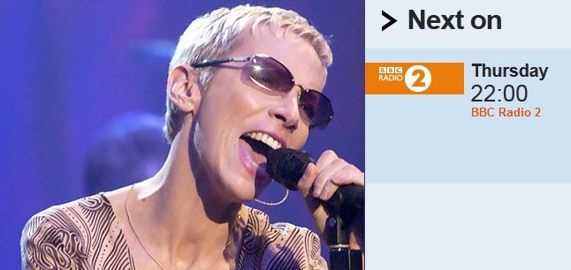 BBC Radio 2 To Broadcast A History Of Annie Lennox And Eurythmics On 6th December