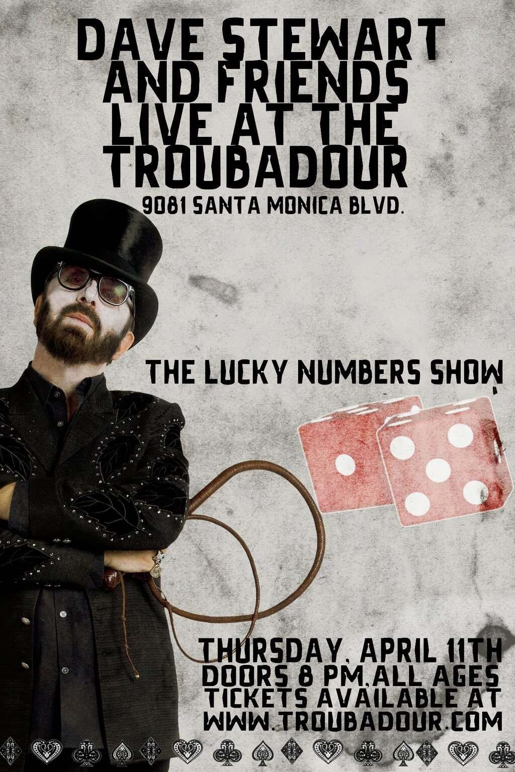 The Lucky Numbers Show – Dave Stewart Rolls The Dice At The Troubadour On April 11th