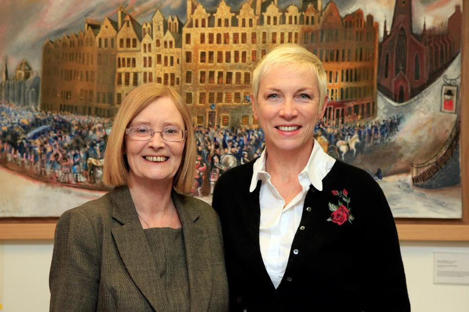 Annie Lennox Visits The Scottish Parliament As Part Of The David Livingstone Bicentenary