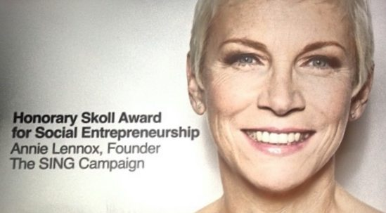 Annie Lennox Receives Honorary Skoll Award In Oxford