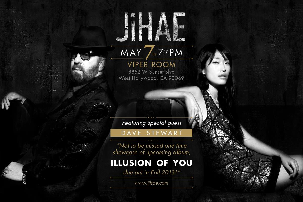 Dave Stewart To Perform With Jihae At The Viper Room On May 7th