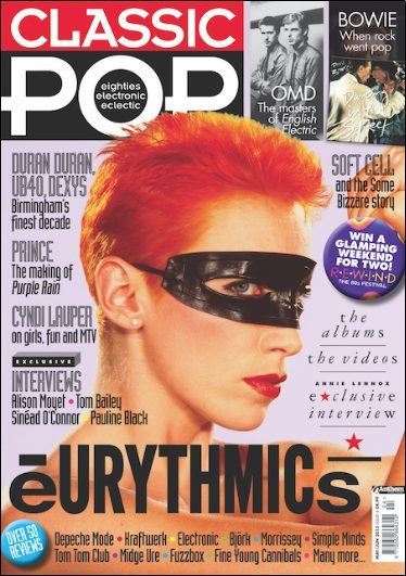 Eurythmics Featured On Front Cover Of The New Classic Pop Magazine With Exclusive Interview With Annie Lennox