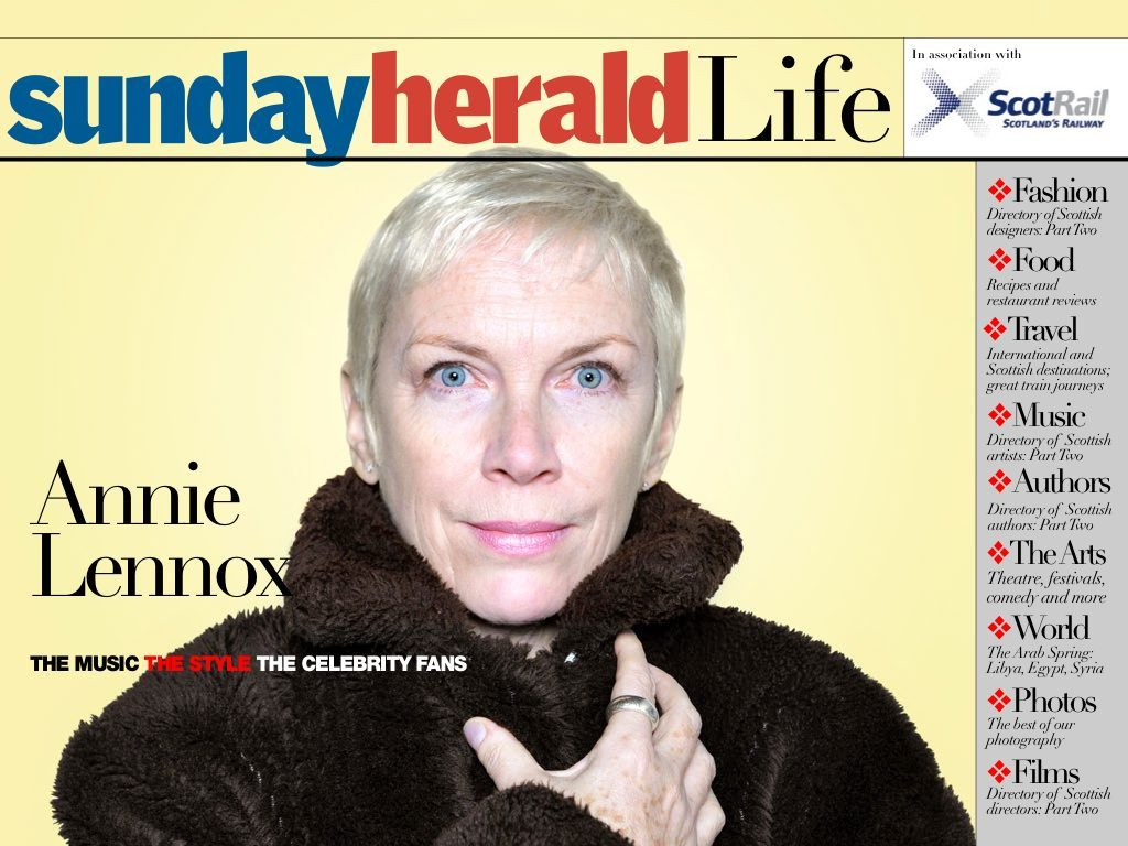 New Annie Lennox Interview With Scottish Life With A Great Free iPad App