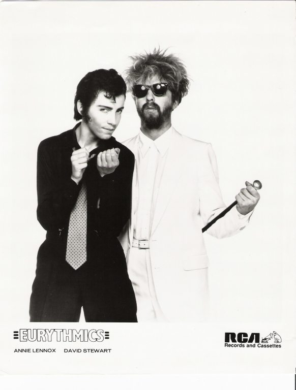 Photo Of The Week: Annie Lennox As Earl With Dave Stewart RCA Promo Photo