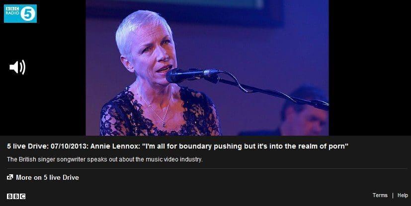 Annie Lennox on BBC Radio 5 Live