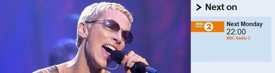 Annie Lennox special on BBC Radio 2