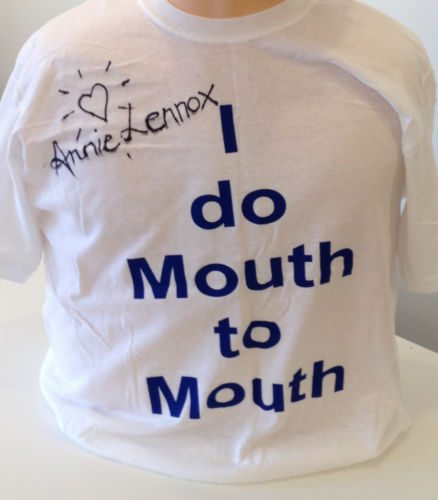 Annie Lennox donates signed T-Shirt to help raise awareness for Scottish First Aid Week