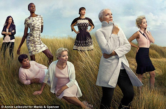 Marks & Spencer booklet featuring Annie Lennox as part of their Leading Ladies Spring and Summer 2014 campaign