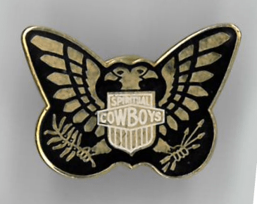 Memorabilia Of The Week : Dave Stewart and The Spiritual Cowboys patch and enamel badge