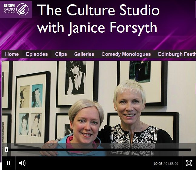 New interview with Annie Lennox on the BBC Radio Scotland Culture Studio Show
