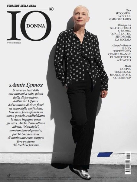 Annie Lennox featured on the cover of Italian magazine Io Donna