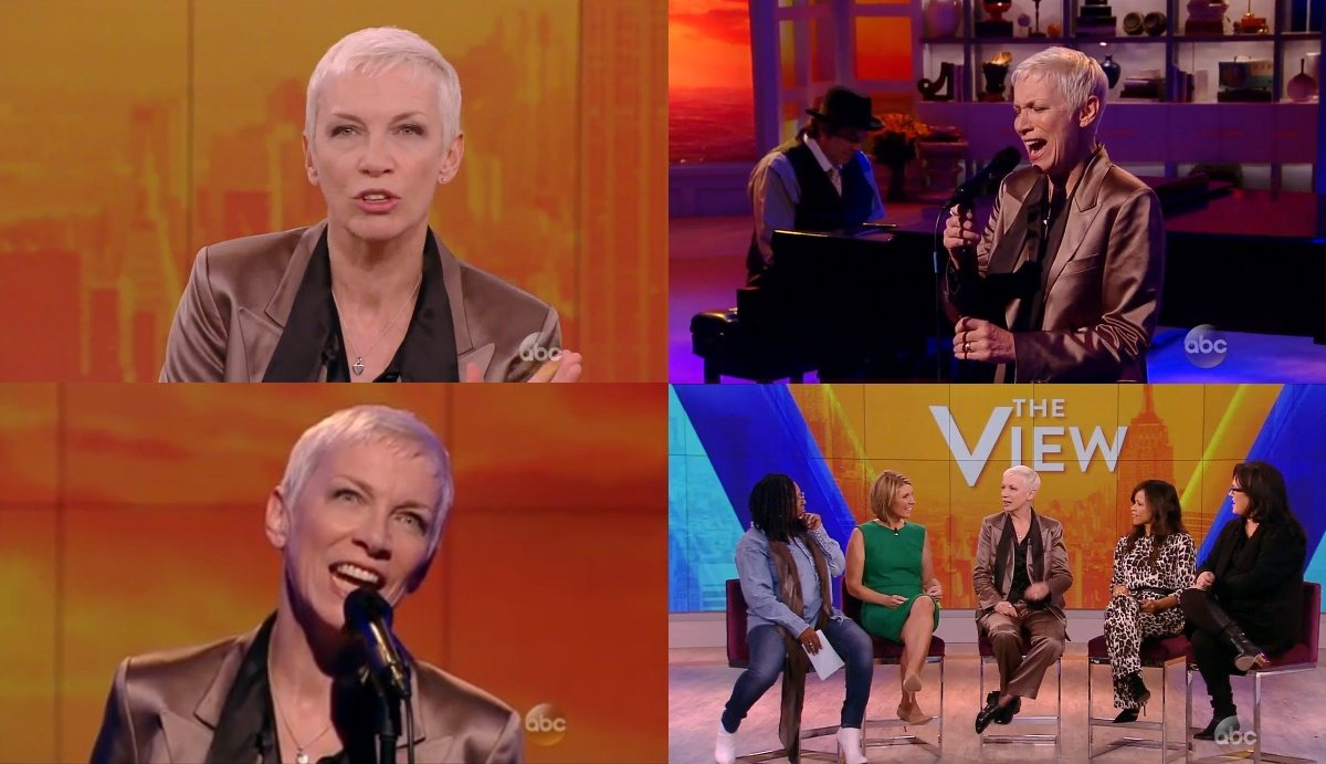 Watch Annie Lennox performing Georgia On My Mind and an interview on The View