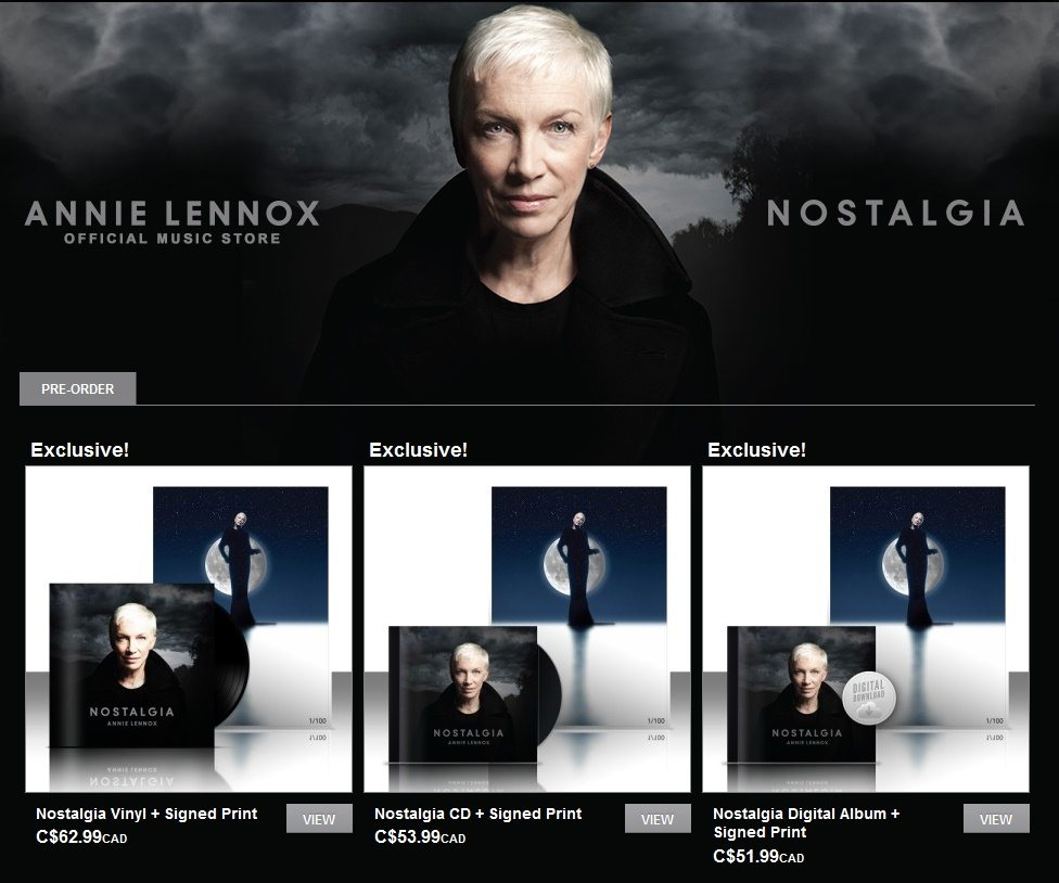 US & Canadian fans can now order the Ltd Edition Annie Lennox A2 print bundles