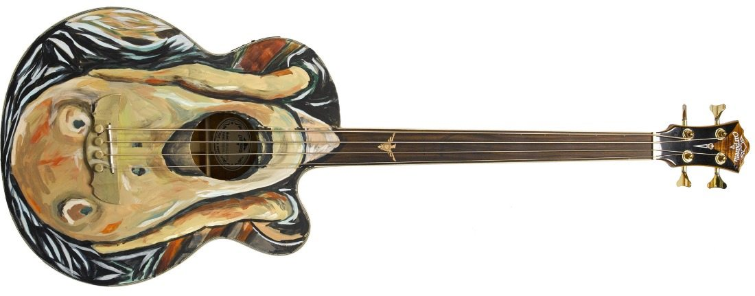 War Child will auction a guitar designed by Dave Stewart at Bonhams on the 7th November