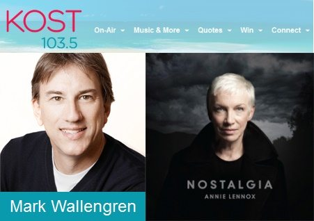 New interview with Annie Lennox on KOST 103.5 with Mark Wallengren