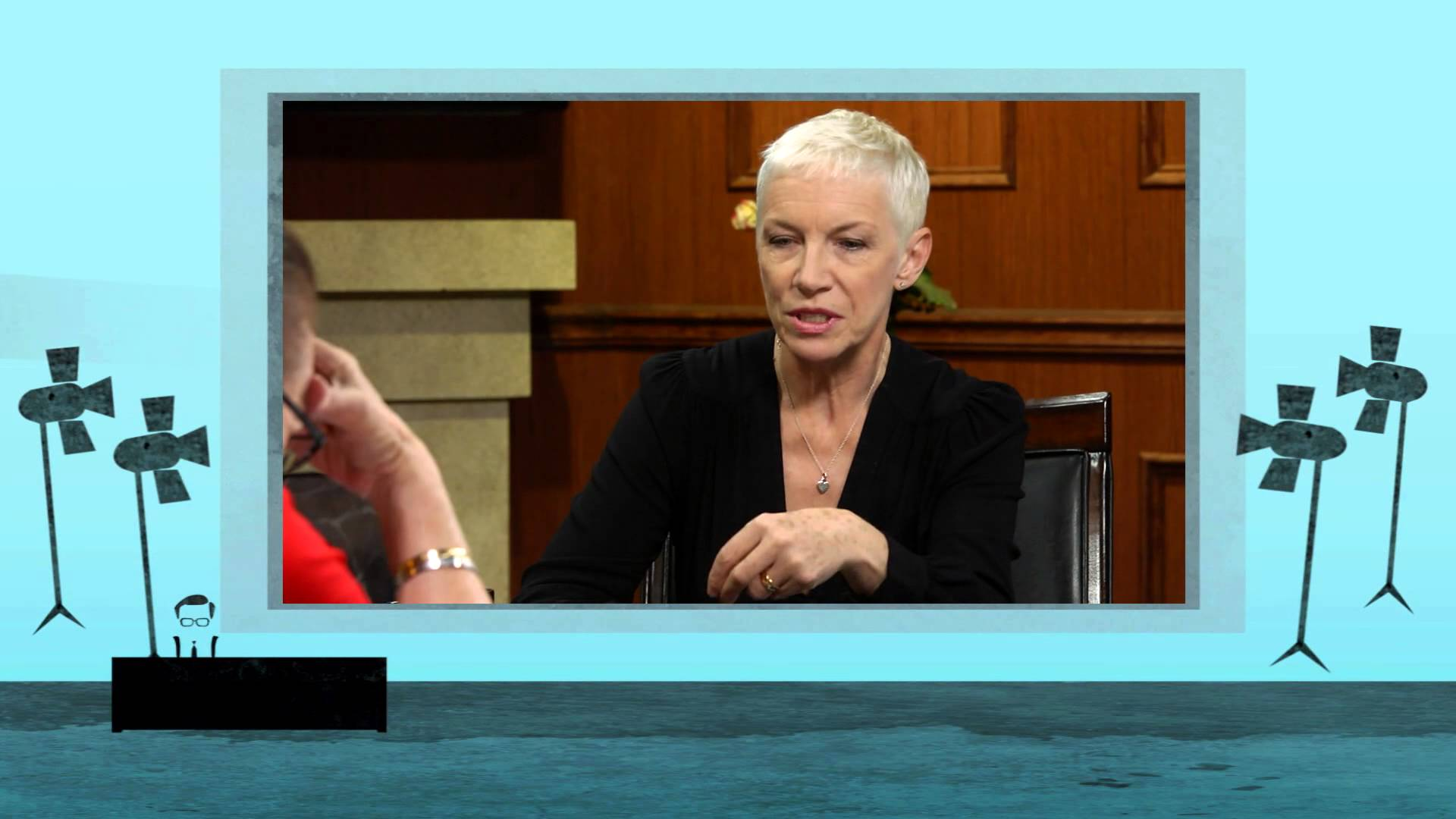 A sneak peak into Annie Lennox's interview with Larry King to be broadcast this evening.