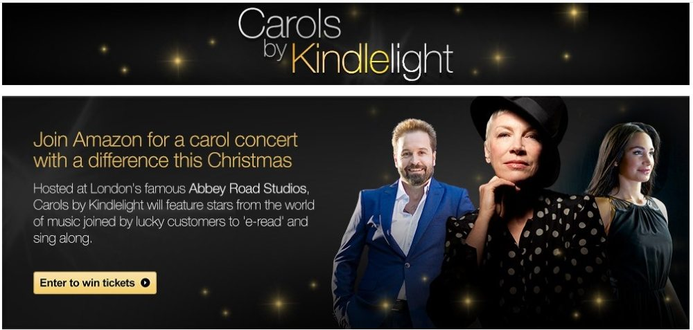 Annie Lennox to perform at Amazon's Carols by Kindlelight carol concert at The Abbey Road Studios on 6th December