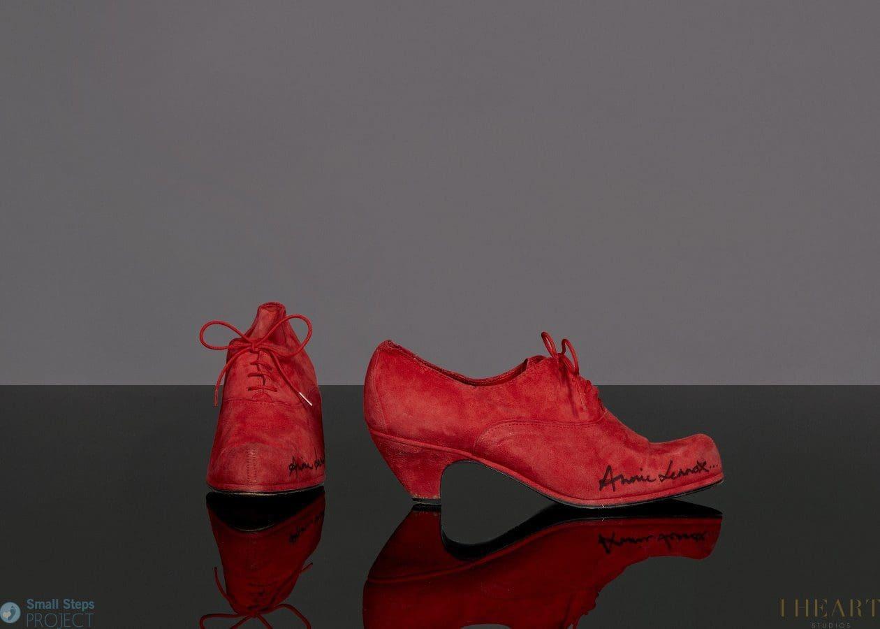 Annie Lennox's signed shoes raises £1025 at auction