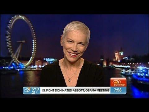 Annie Lennox joins Sunrise in Australia – Watcher Annie's interview here