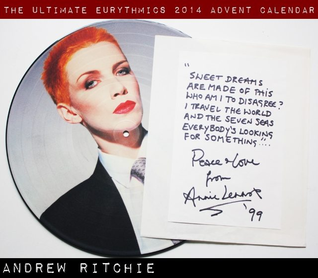 Day 3 – Ultimate Eurythmics Advent Calendar 2014 – Andrew Ritchie