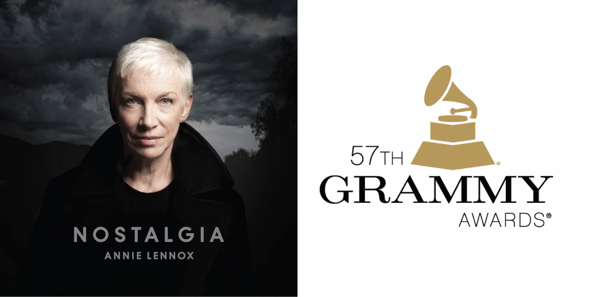 Annie Lennox's new album Nostalgia is nominated for a 2015 Grammy for Best Traditional Pop Vocal Album