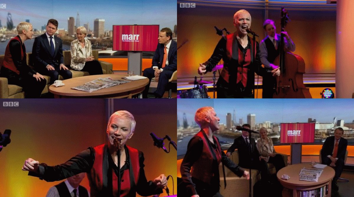 Watch Annie Lennox perform I Put A Spell On You and interview on today's Andrew Marr Show on BBC iPlayer