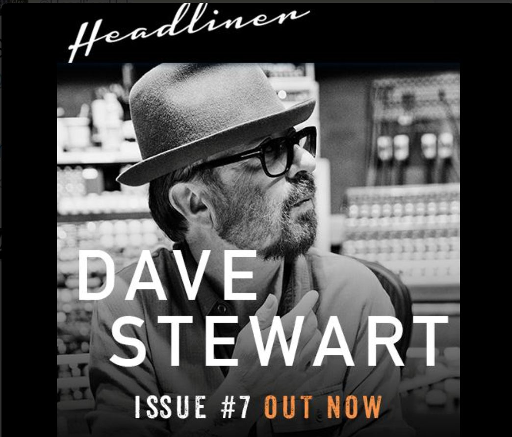 New Interview with Dave Stewart for Headliner Magazine