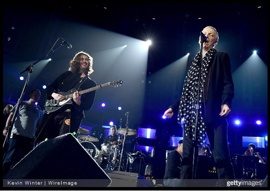 Annie Lennox Grammy 2015 rehearsal photographs with Hozier