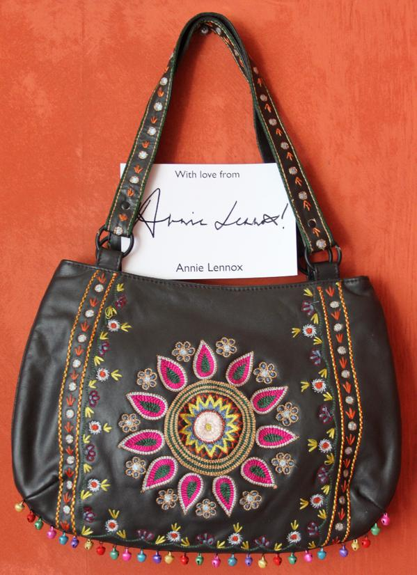 Annie Lennox donates her handbag to Rumble In The Jumble 2015
