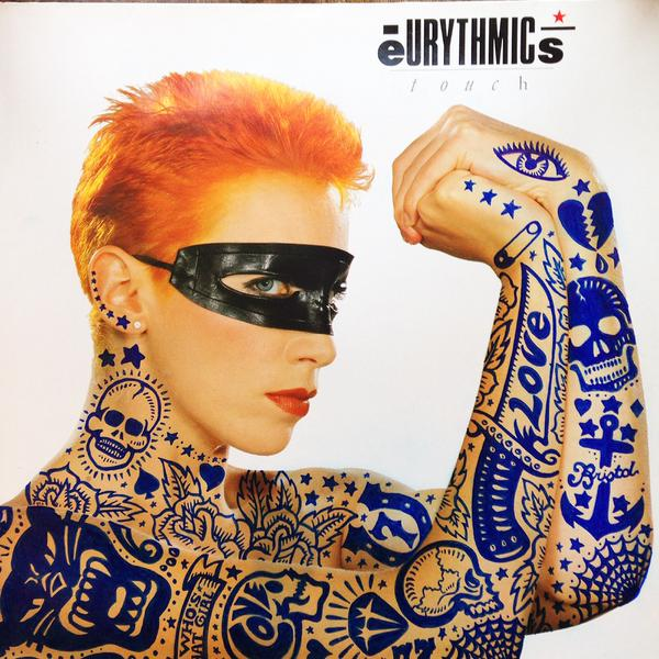 Eurythmics Touch album cover featured in Cover Bombing exhibiton