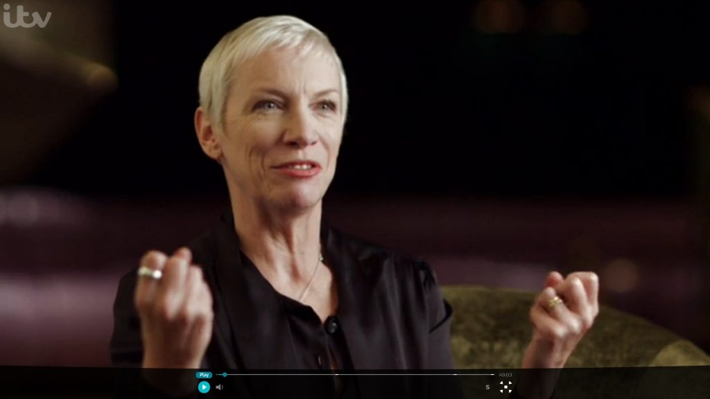 Annie Lennox featured in ITV documentary Perspectives: Nicky Campbell on the Great American Love Song