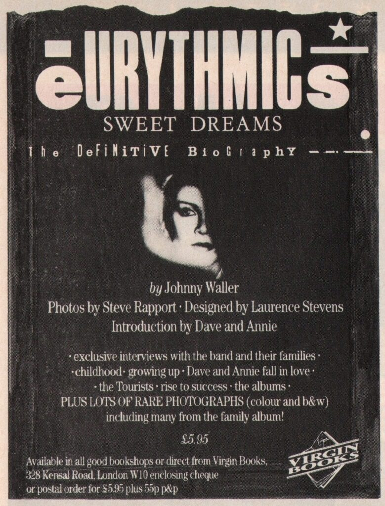 Eurythmics - Advert - Books - Sweet Dreams Biography