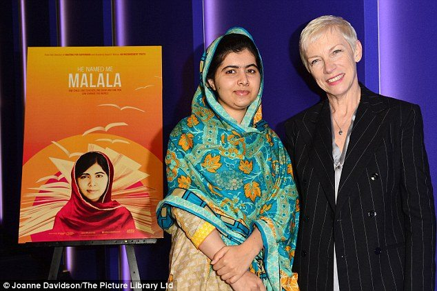 """Annie Lennox attends the premiere of """"He Named Me Malala"""""""