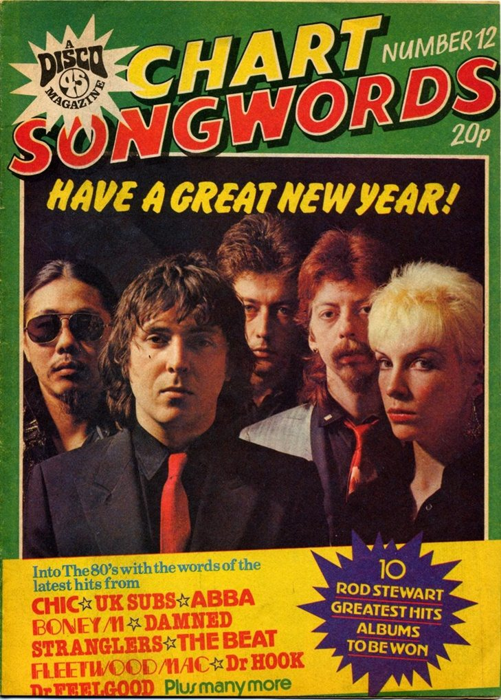 Ultimate Eurythmics Archives : The Tourists - Chart Songwords Magazine - 01/12/1980