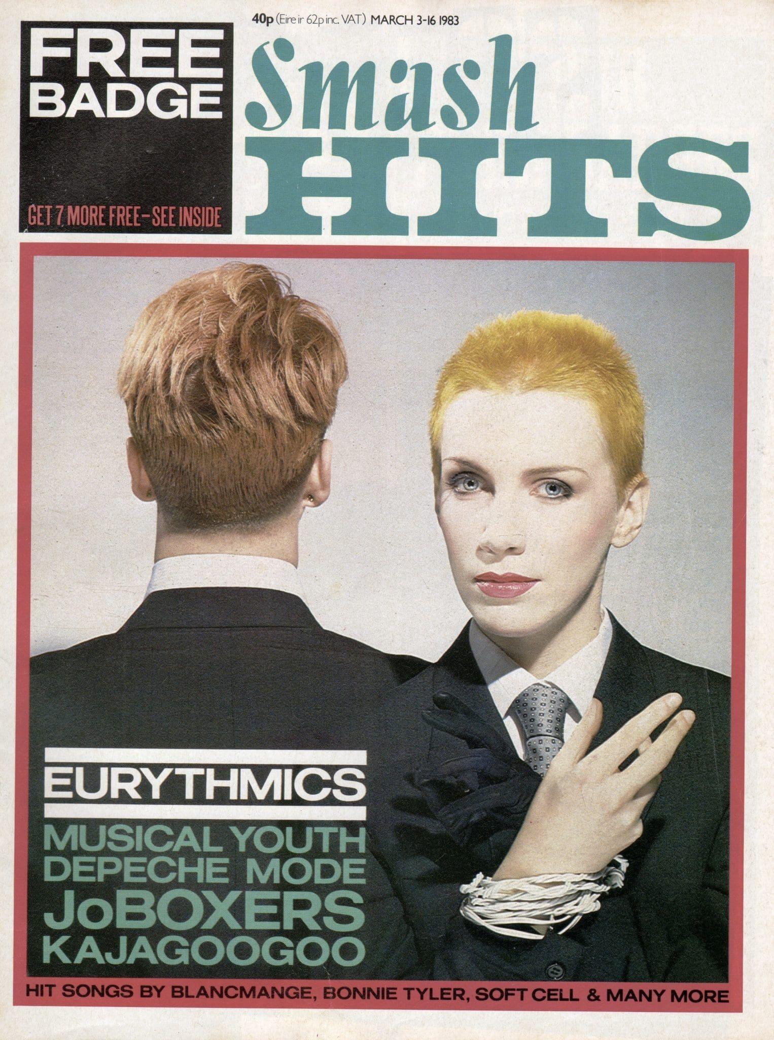 Ultimate Eurythmics Archives : Eurythmics - Smash Hits Magazine - 03/03/1983