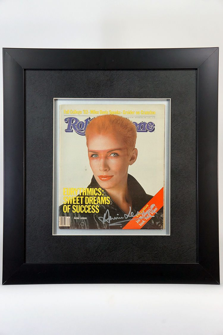 Bid on this signed copy of Rolling Stone by Annie Lennox for the Grammy Foundation