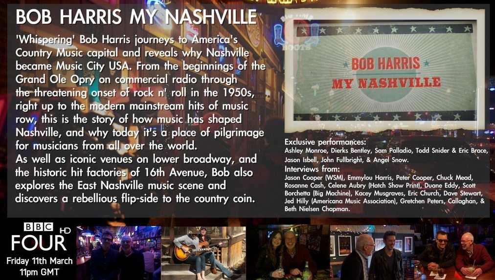 Bob Harris's My Nashville film airs on BBC 4 tonight at 11pm and features and interview with Dave Stewart