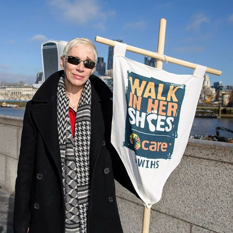 Join Annie Lennox on Mothers Day in London for the Walk In Her Shoes International Womens Day Walk