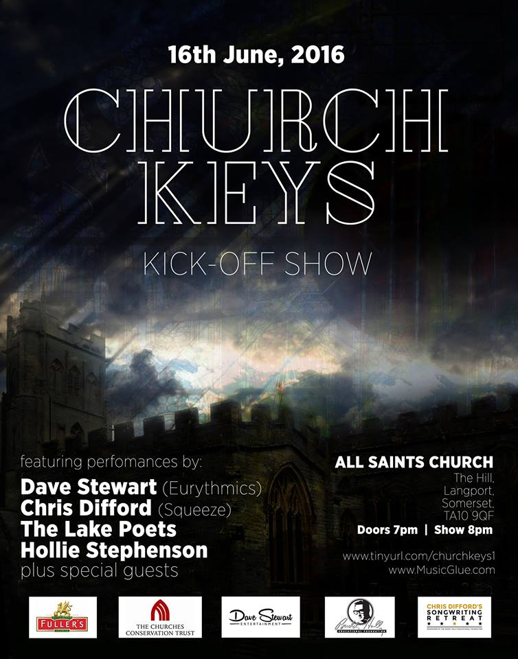 Dave Stewart announces a performance in Somerset on 16th June : ChurchKeys
